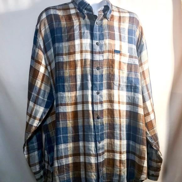 0621af7d Faconnable Shirts   Mens Long Sleeve Linen Button Up Sz Xl   Poshmark